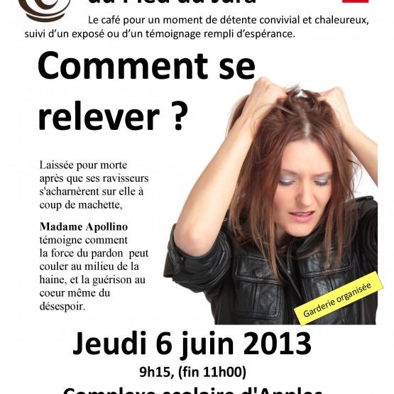 Café du Pied du Jura Affiche Apples Juin 2013